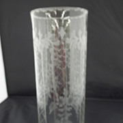 Hawkes Cut and Signed Crystal Vase
