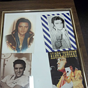 Four Framed Picture  Postcards Of Elvis Presley