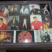 Large Collage of Elvis Presley Postcards/One with President Nixon