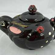 Vintage Unique Black Rabbit Teapot