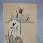 1924 Cream of  Wheat Cook Book with Chef Rastus