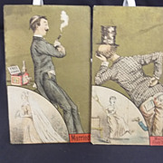 Two Victorian Trade Card Miles' Baking Powder Co.