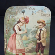 Van Houten's Cocoa Box Advertising