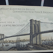 Singer Sewing Machine Trade Card