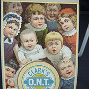 Clark's O.N.T. Spool Cotton Thread Trade Card