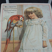 Victorian Trade Card Willimantic Thread