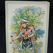 Clark's Cotton Thread Trade Card