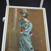 Eldredge B Sewing Machine Advertising Trade Card