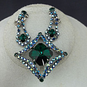 Vintage Emerald Green Rhinestone Costume Jewelry