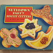 "Vintage ""Nut Brown Party  Biscuit Cutters"""
