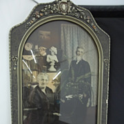 Old Beveled Glass Frame and Picture/Chicago Portrait Company