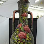Very Large Rose Lacquered Vase