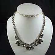 Weiss Black Diamond Rhinestone Necklace