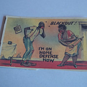Vintage Black Americana Post Card