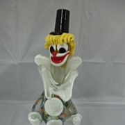 Vintage Art Glass /Multi Colored Clown