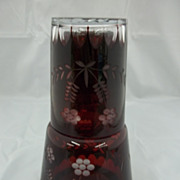 Vintage Bavarian Glass Water Set