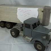 "1950""s Vintage Smith Miller Mack Truck and Fruehauf Trailer"