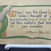 Vintage Happy New Year Postcard