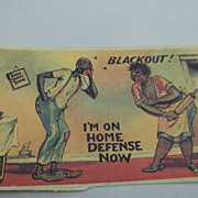Comic Couple  Black Humor Postcard