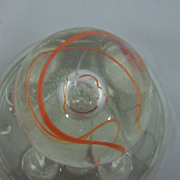 Collectible Swirl Glass Marble with a Marble Within