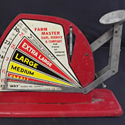 Sears and Roebuck Farm Master  Egg Scale