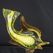 Vivid Yellow Murano Glass Goldfish