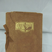 Thoreau Leather Bound Book Friendship