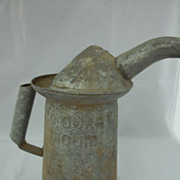 Vintage One Quart Liquid Oil Can