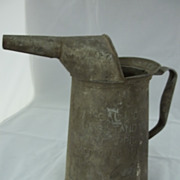 Tin Quart Oil Can with Funnel