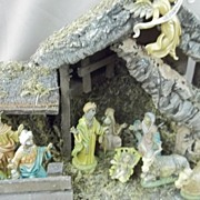 Old Italian Made Musical Nativity Set