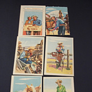SALE 1950's Roy Rogers and Dale Evans Post Cereal Pop Up Cards