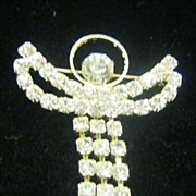 SALE Collectible rhinestone angel vintage pin