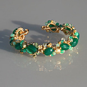 Green Onyx, Chrysoprase, Green Amethyst & 14K gold filled Bracelet