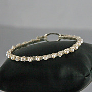 White Cultured Pearl  and Sterling Silver Bracelet