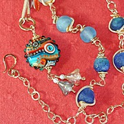 """Eye of the Sea"" Pendant & 14KGF Necklace"