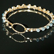 Blue Crystal Gold Filled Bracelet