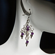 Glistening Purple Amethyst & Sterling Silver Earrings
