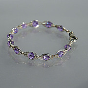 SOLD Light Purple Swarovski Crystal Bracelet