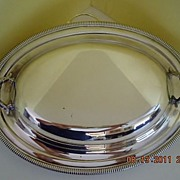 SOLD Vintage Wm. Rogers MFG Co. Silverplated (2 pc) Oval Covered Serving Dish