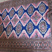 Vintage Silk/wool 6ft Turkish hand knotted High color RUG Beautiful signed Carpet
