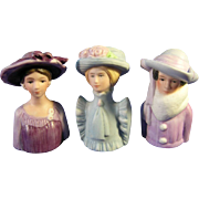 Porcelain Fashion Lady Thimble Set
