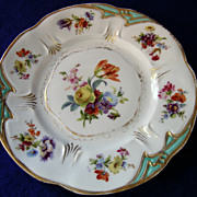 Three Fleurs De Saxe Germany Desert Plates