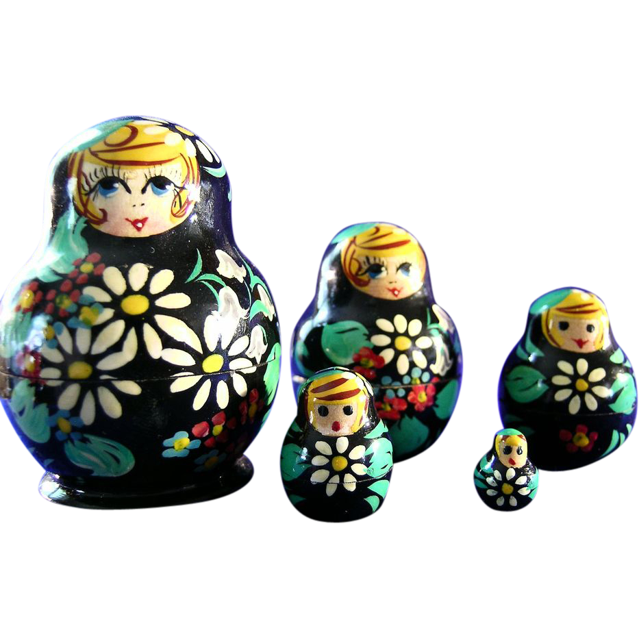 Russian Matryoshka Doll Set