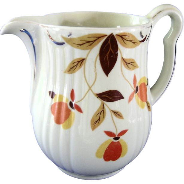 Pretty Autumn Leaf Cream Pitcher  Hall Jewel Tea