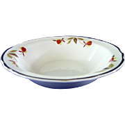 Set of Four Autumn Leaf Cereal Bowls by Hall China Company