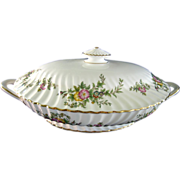 Minton &quot;York&quot; Pattern Covered Vegetable Serving Dish