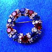Stunning Patriotic Brooch or Pin Broach