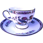 Wedgwood Kutani Crane Cup & Saucer