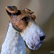Wire Fox Terrier Figurine  **  Andrea by Sadek