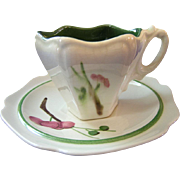 Redwing Dynasty Pink Plum Blossom Demitasse Cup & Saucer
